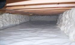 A clean, insulated crawl space in White City, Saskatchewan and Manitoba