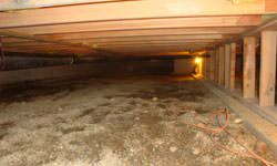 A nasty, mouldy crawl space in Dauphin, Saskatchewan and Manitoba