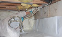 Crawl space vapor barrier system in Melville, Saskatchewan and Manitoba
