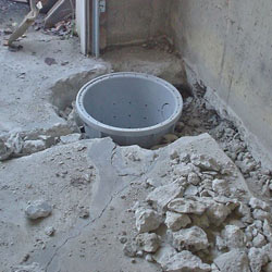 Placing a sump pit in a Roblin home