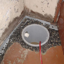 Installing a sump in a sump pump liner in a Yorkton home