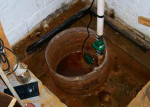 Extreme clogging and rust in a Fort Qu'Appelle  sump pump system