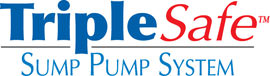 Sump pump system logo for our TripleSafe™, available in areas like Brandon