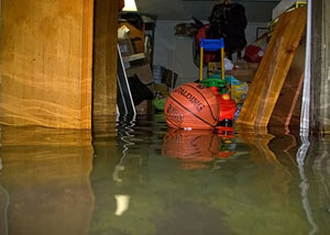 A flooded basement bedroom in Regina
