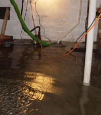 Several feet of floodwaters in a Yorkton basement