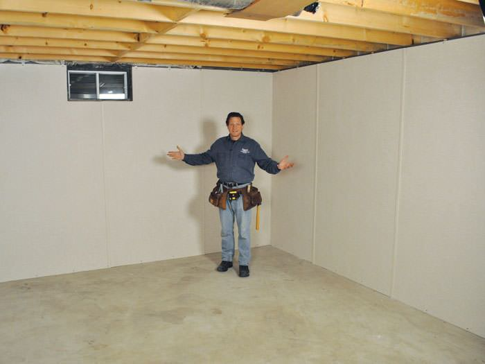 ... Melville Basement Insulation Covered By EverLast™ Wall Paneling, With  SilverGlo™ Insulation Underneath