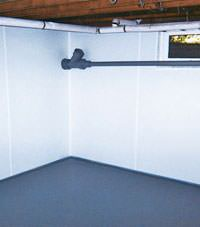 Plastic basement wall panels installed in a Moosomin, Saskatchewan and Manitoba home