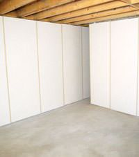 Unfinished basement insulated wall covering in Moosomin, Saskatchewan and Manitoba